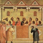 Giotto di Bondone (c. 1267  January 8, 1337)  Pentecost  Tempera on wood, 1300-1310  17 7/8 x 17 1/4 inches (45.5 x 44 cm)  National Gallery, London, England